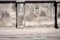 Old cracked plaster fence