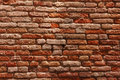 Old cracked red bricks texture Royalty Free Stock Images