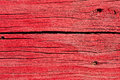 Old Cracked Wooden Boards Painted Red Royalty Free Stock Photo