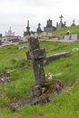 Old cross at a Belgium cemetery Royalty Free Stock Photos