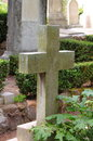Old cross gravestone Royalty Free Stock Photo