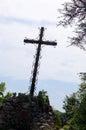 Old cross, hilltop, Rocamadour, France
