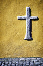 Old cross historic close up Stock Photo