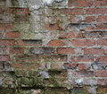 Old crumbling wall of red brick Royalty Free Stock Photo