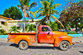 Old cuban car in the street varadero Royalty Free Stock Image