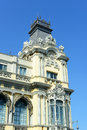 Old customs house port de barcelona spain details of is the neoclassical style built in Stock Photo