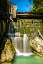 Old dam summer landscape with on river salza schoeggelwald styria austria Royalty Free Stock Image