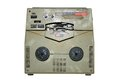 Old damaged analog recorder isolated over white background Royalty Free Stock Photos
