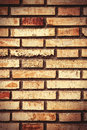 Old and damaged brick wall making background Royalty Free Stock Photography