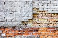 The old damaged brick wall with rich texture Royalty Free Stock Photo