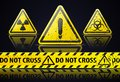 Old danger sign illustration of on black background Royalty Free Stock Photo