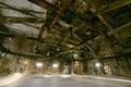 Old dark decaying destructive dirty factory creepy Stock Photos