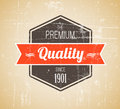 Old dark retro vintage grunge label Royalty Free Stock Photography