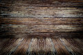 Old dark wood rotten wall and floor texture background Stock Photos
