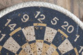 Old dartboard part of close up Royalty Free Stock Photos