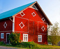 Old decorated barn. Stock Image
