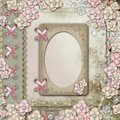 Old decorative album cover with flowers and pearls Royalty Free Stock Photo