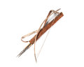 Old decorative bow, quiver and arrow Royalty Free Stock Photography