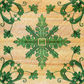 Old decorative sandstone tile background patterns Royalty Free Stock Photo