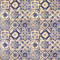 Old decorative sandstone tile background patterns in the park Royalty Free Stock Photo