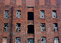 Old derelict victorian warehouse Royalty Free Stock Photos