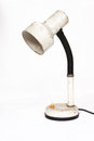 Old desk lamp white background Stock Image