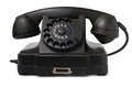 Old desktop telephone on white background Stock Photo