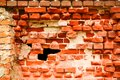 Old destroyed brick wall Stock Image
