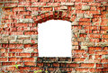Old destroyed brick wall of the building Royalty Free Stock Photo