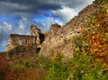 Old destroyed fortress russia koporye the ancient petersburg Royalty Free Stock Images