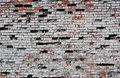 Old destroyed red brick wall painted white texture Royalty Free Stock Photo