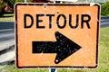 Old Detour Sign Stock Photos