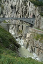 Old Devil's Bridge near Andermatt Royalty Free Stock Image