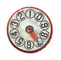 Old dial gauge isolated. Royalty Free Stock Photo