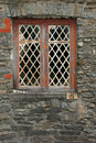 Old Diamond Leaded Windows Royalty Free Stock Photos