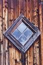 Old Diamond Shaped Barn Window Royalty Free Stock Photo