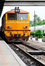 Old diesel electeic locomotive Royalty Free Stock Photos
