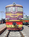 Old diesel locomotive  1 Stock Images