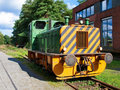 Old diesel locomotive Stock Photo