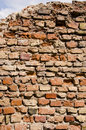 Old dilapidated brick wall backdrop Stock Photos