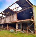 Old dilapidated warehouse Royalty Free Stock Photo