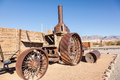 Old dinah steam tractor at furnace creek ranch in death valley Stock Photos