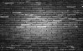 Old and dirty brick wall black background, texture. Royalty Free Stock Photo