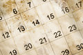 Old and dirty calendar Royalty Free Stock Photo