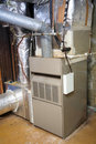 Old and dirty gas furnace Stock Images