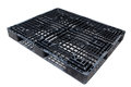 Old dirty plastic pallet black color Stock Photos
