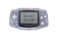 Old dirty portable game console with a small screen Royalty Free Stock Photo
