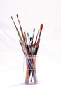 Old Dirty Used Paintbrushes Royalty Free Stock Photo