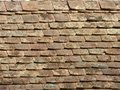 Old dirty vintage roof stone brick wall grunge surface rough material background Royalty Free Stock Photo