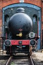 Old disused coal steam locomotive Royalty Free Stock Photo